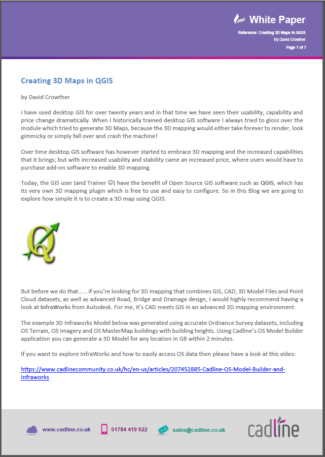 Creating 3D Maps in QGIS – Cadline Community