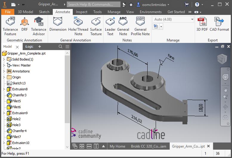 inventor 2018 model based definition cadline community. Black Bedroom Furniture Sets. Home Design Ideas