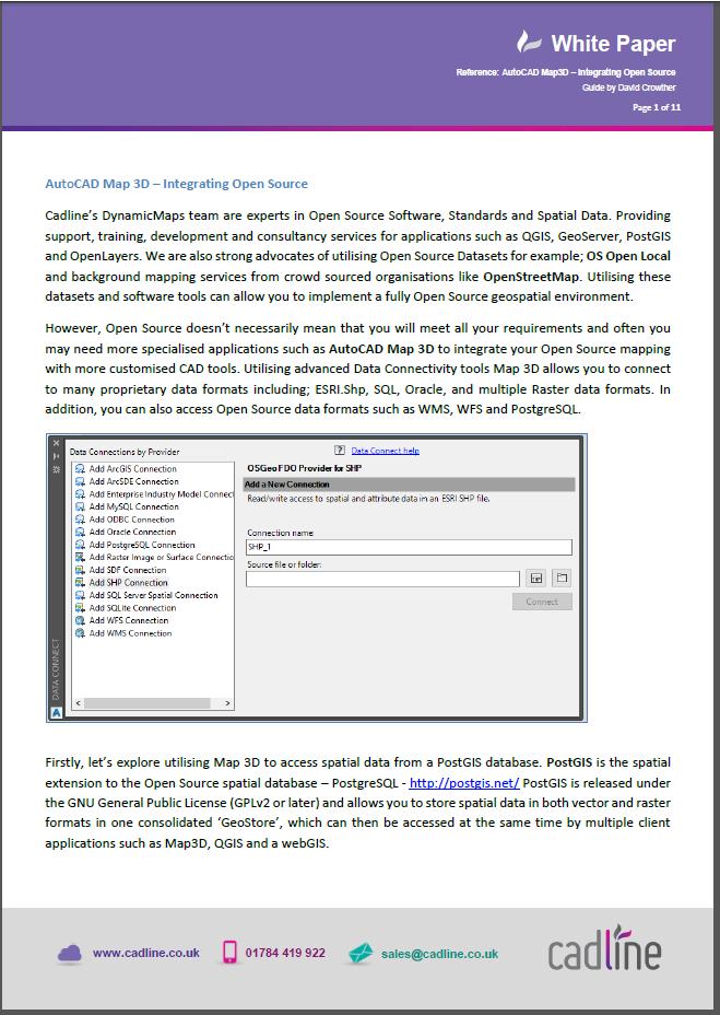 AutoCAD Map 3D – Integrating Open Source – Cadline Community