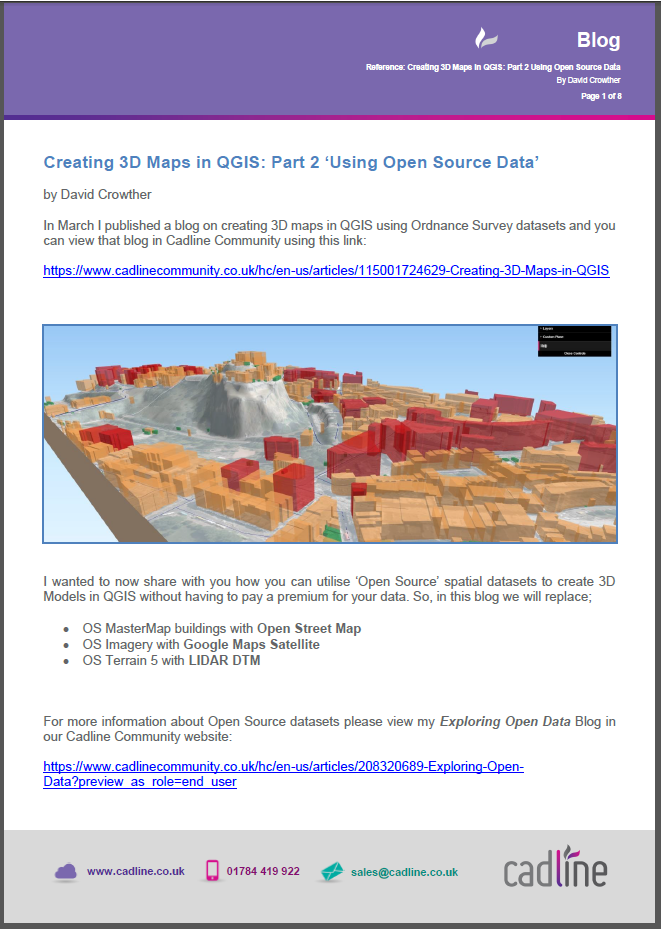 Creating 3D Maps in QGIS: Part 2 'Using Open Source Data