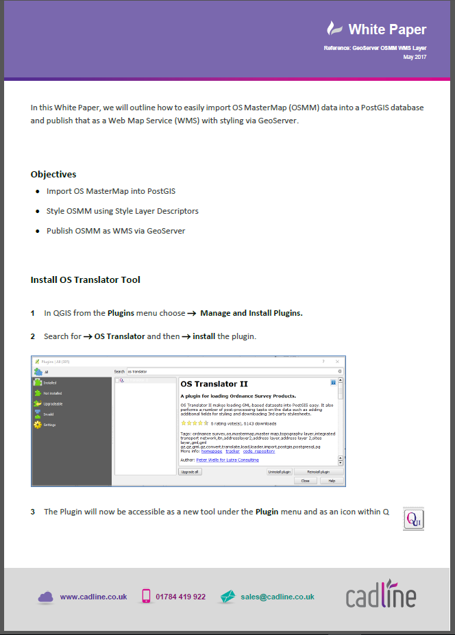 Os mastermap user guide: product specification v5. 1.