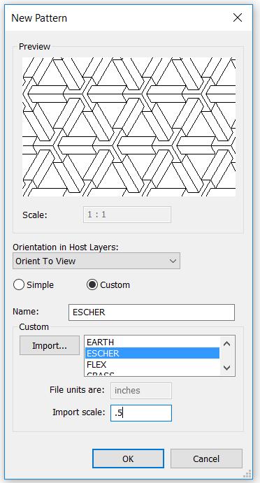 Revit Architecture 2018 – Custom Revit Hatch Patterns (Part