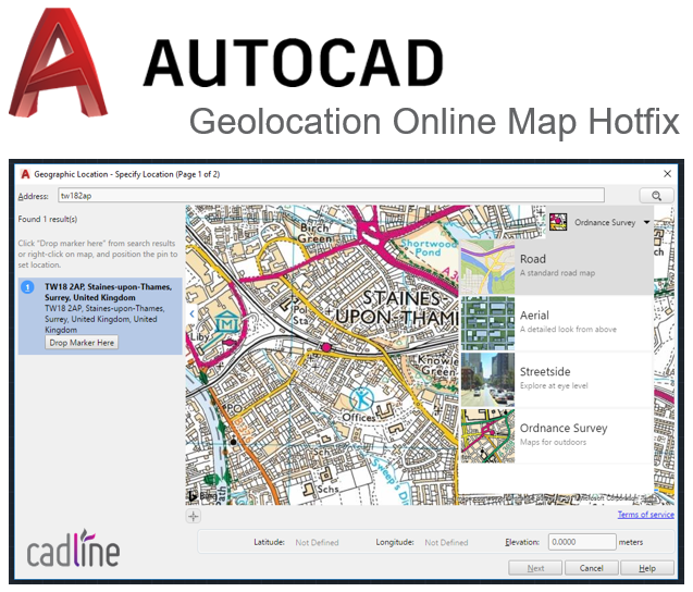 AutoCAD 2015-2018: Geolocation Online Map Hotfix – Cadline ... on airport 3d map, maya map, computer 3d map, water 3d map, java map, project management map, mac map, architecture map, school 3d map, natural 3d map, word map, nuclear 3d map,