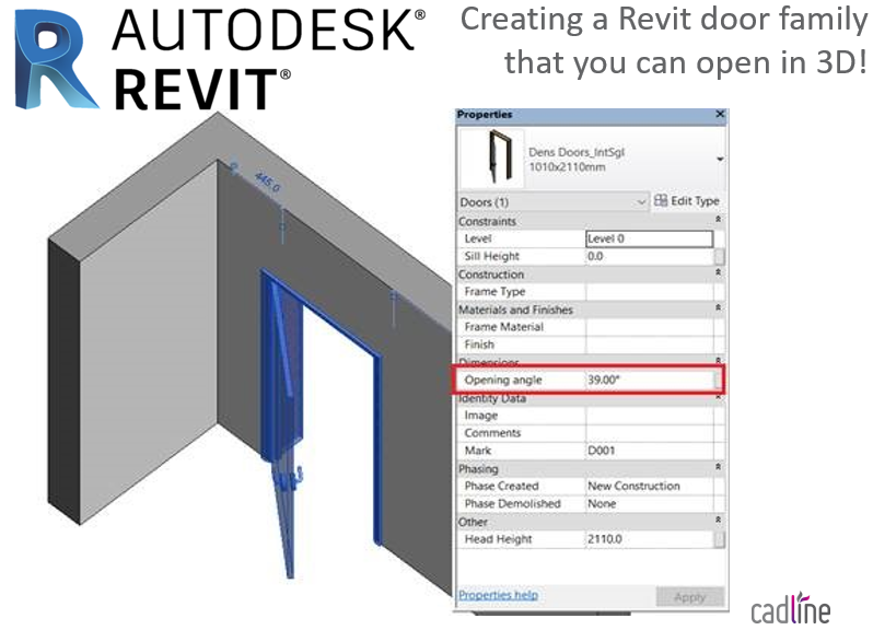 Being able to open door objects in 3d views in Autodesk