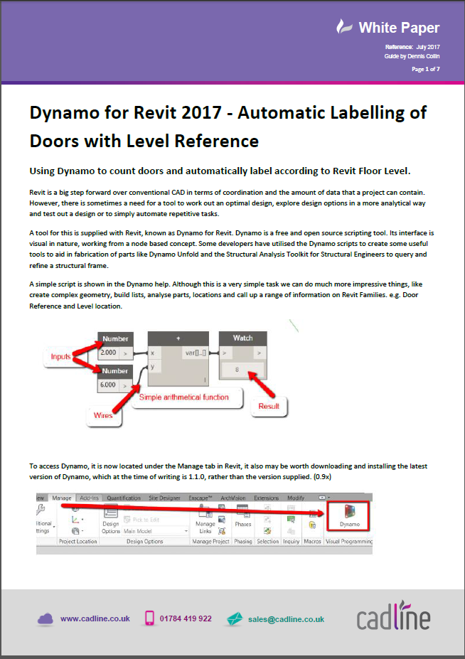 Dynamo for Revit 2017 - Automatic Labelling of Doors with level
