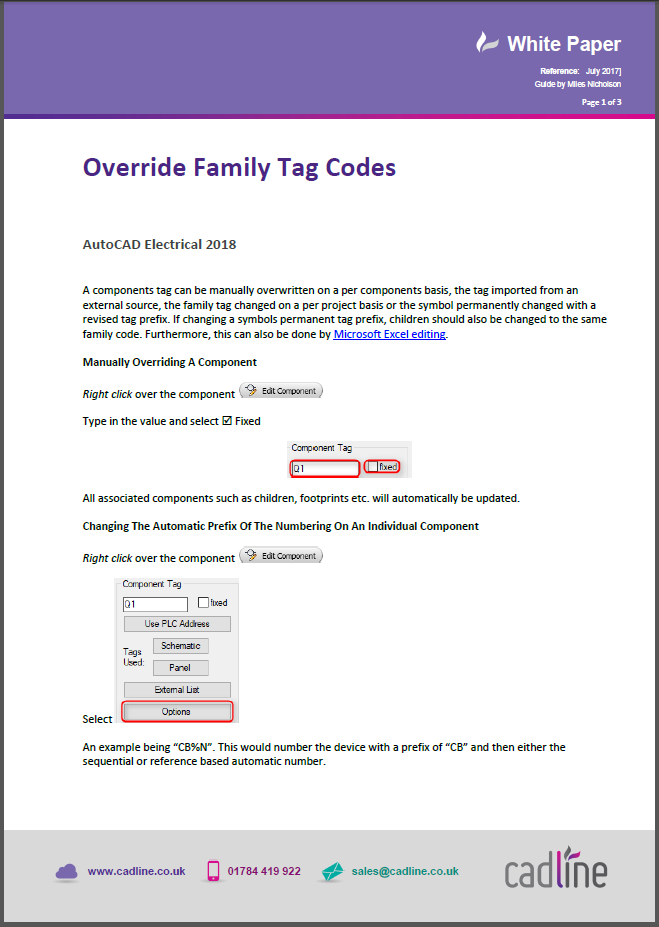Autocad Electrical 2018 Override Family Tag Codes Cadline Community