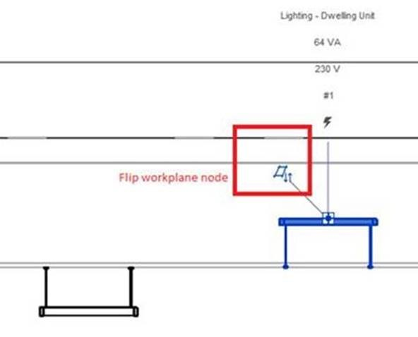 Revit 2018 – Upside Down Elements with Hosted Families in Revit MEP