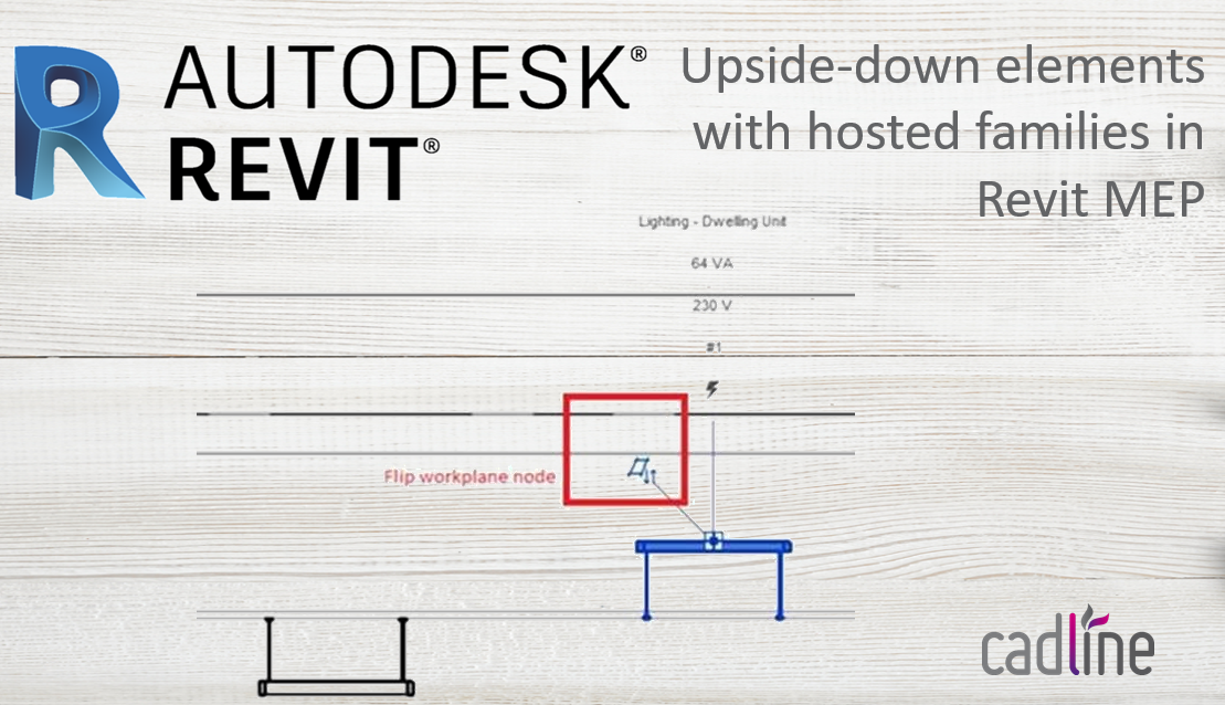 Revit 2018 Upside Down Elements With Hosted Families In Revit Mep