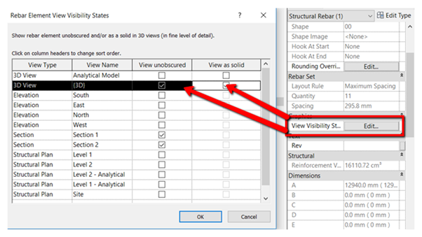 Showing Revit 2018 Rebar Through Structural Objects In Shaded Or