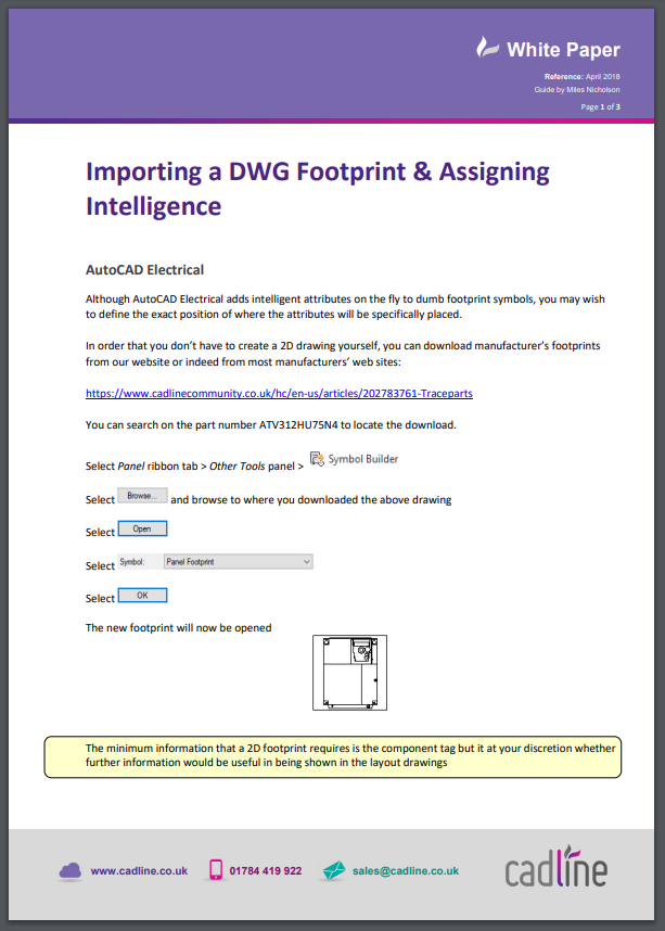 AutoCAD Electrical 2018 – Importing a DWG Footprint & igning ... on standard electrical symbols autocad, person using autocad, electrical panel layout drawing,