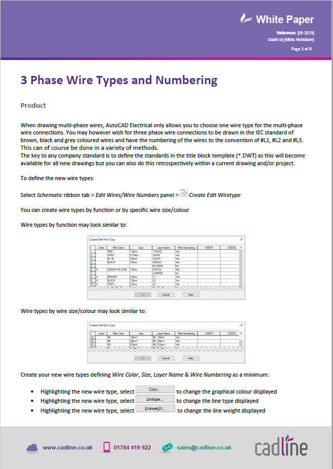 Autocad Electrical 2020 3 Phase Wire Types And Numbering Cadline Community
