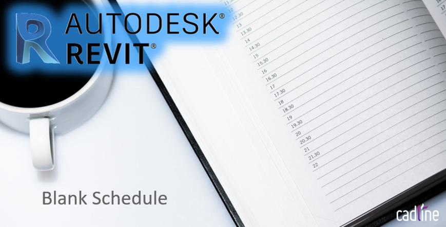 Revit 2020 - Blank Schedule – Cadline Community