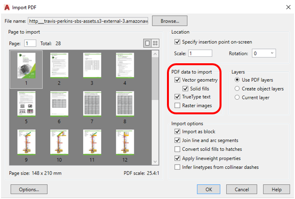 New to AutoCAD 2017, Importing PDF files  2 of 4 – Cadline Community