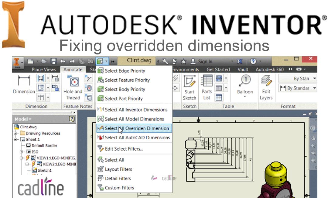 Autodesk Inventor – Fixing overridden dimensions – Cadline Community