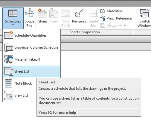 Creating A Drawing Index In Revit Cadline Community