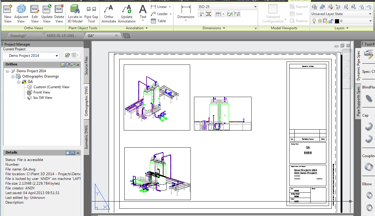 Autocad plant 3d 2014 first look cadline community for Plante 3d dwg