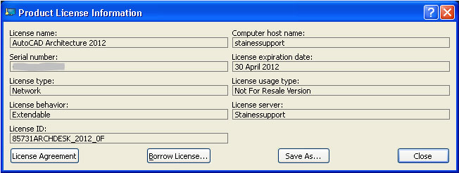 Borrow a Network License in an AutoCAD Product – Cadline