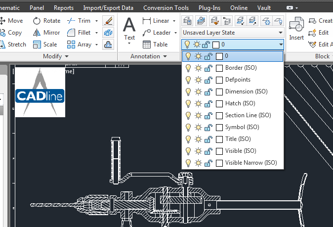 Line Drawing In Autocad : Inventor drawings dwg v idw autocad cadline community