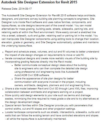 Autodesk Site Designer Extension for Revit 2015 – Cadline Community