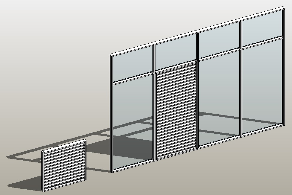 Revit Architecture 2014 – Create a curtain wall type with louvered ...