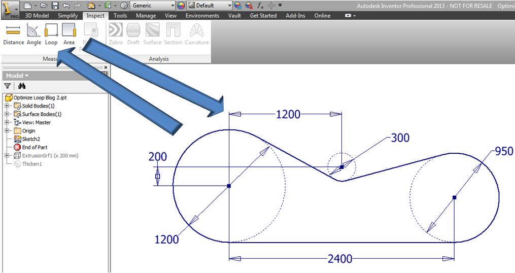 Inventor 2014 - iLogic – Optimize Loop Length In Sketch