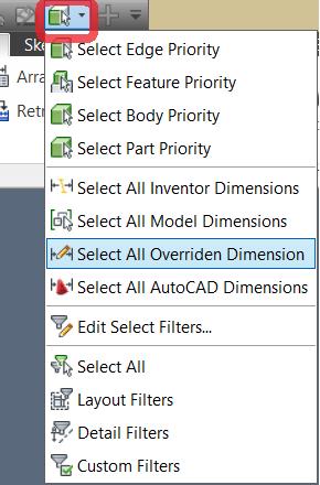 Autodesk Inventor – Fixing overridden dimensions – Cadline