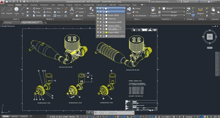 Inventor 2015 idw dwg 2d and 3d autocad interoperability for Autocad templates free dwg