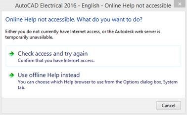 AutoCAD Electrical 2015 – I'm Working Offline, Where is My