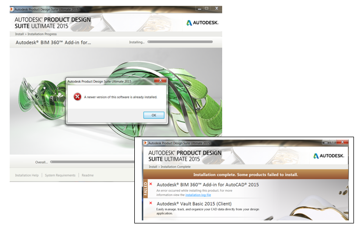 Autodesk Design Suites – installing further applications following