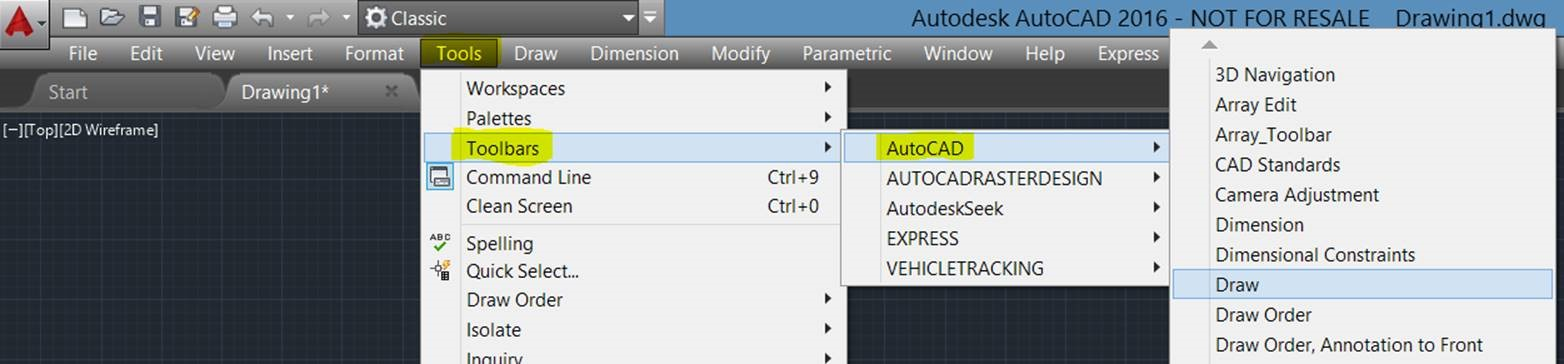 AutoCAD 2016: Restoring the Classic Workspace – Cadline