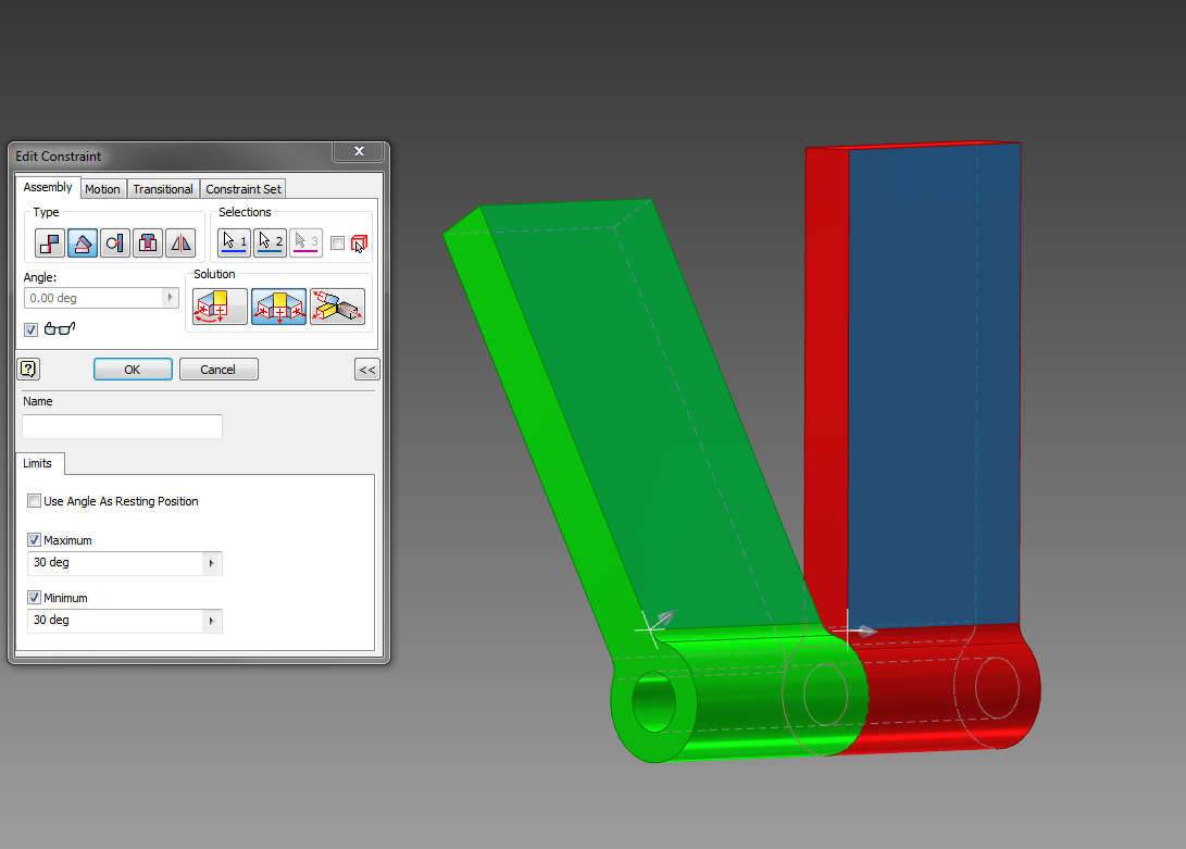 Inventor 2016 Constraint Limits Cadline Community 2d Electrical Plan Now If Minimum Limit Is Set To 30 That Restricts The Movement And Only Therefore Green Part Moves More Like A Switch It Jumps