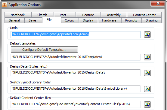 Inventor 2016 - Missing Content Center Files on Assembly