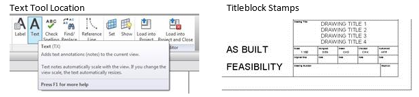 On The Create Tab Select Text Click Where You Want To Place And Type In FEASIBILITY Another Piece Of AS BUILT