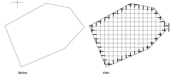 Drawing Lines In Autocad Using Coordinates : Automated survey grid drawing facility for autocad