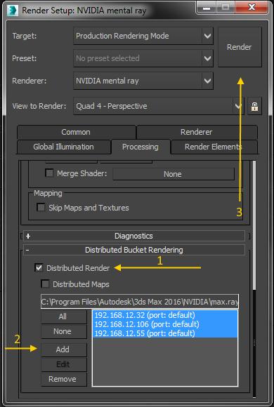 Autodesk 3ds Max Setting Up A Mentalray Render Farm Cadline Community