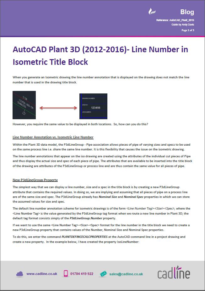 autocad plant 3d tutorial pdf