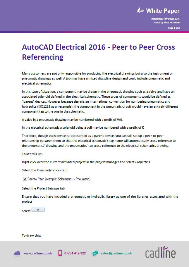 AutoCAD Electrical 2016 – Peer to Peer Cross Referencing – Cadline ...