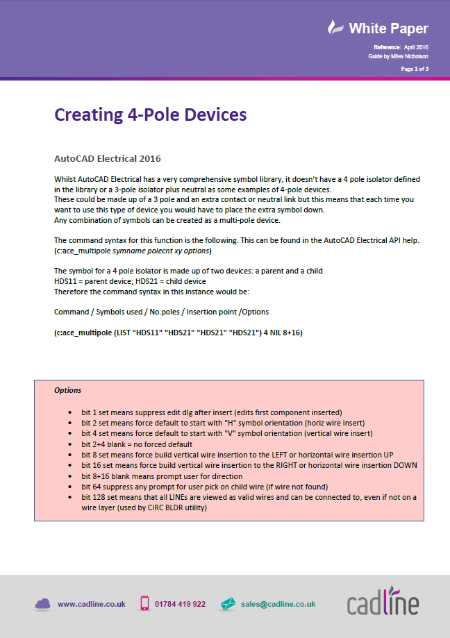 Autocad Electrical 2016 Creating 4 Pole Devices Cadline Community