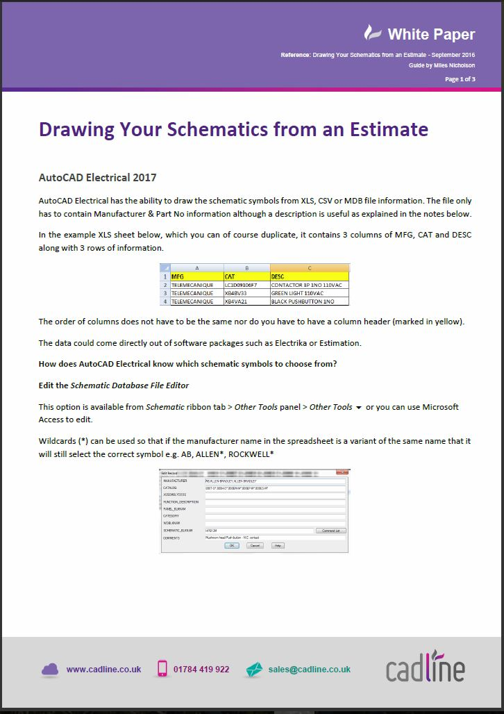 Autocad Electrical 2017 Drawing Your Schematics From An Estimate