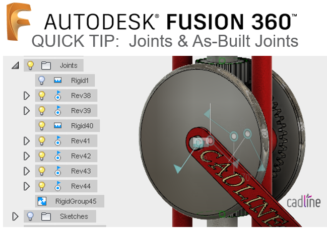 Fusion 360 – Joints and As-Built Joints – Cadline Community